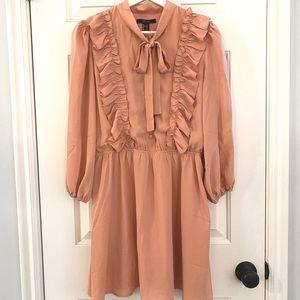 Blush pink/peach ruffle bow Forever21 dress